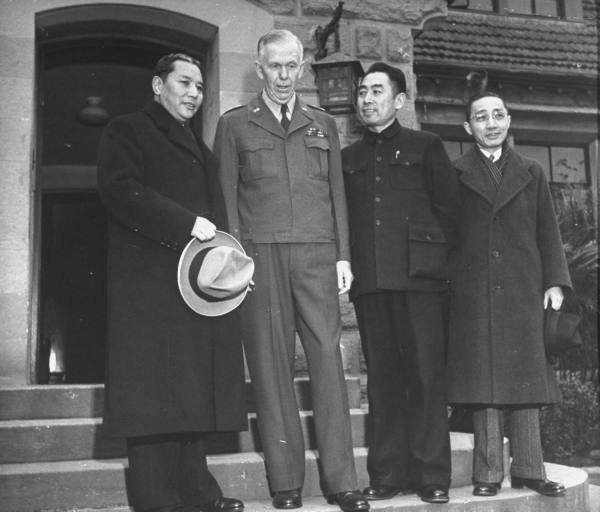 February 2 1947 Marshall leaves China